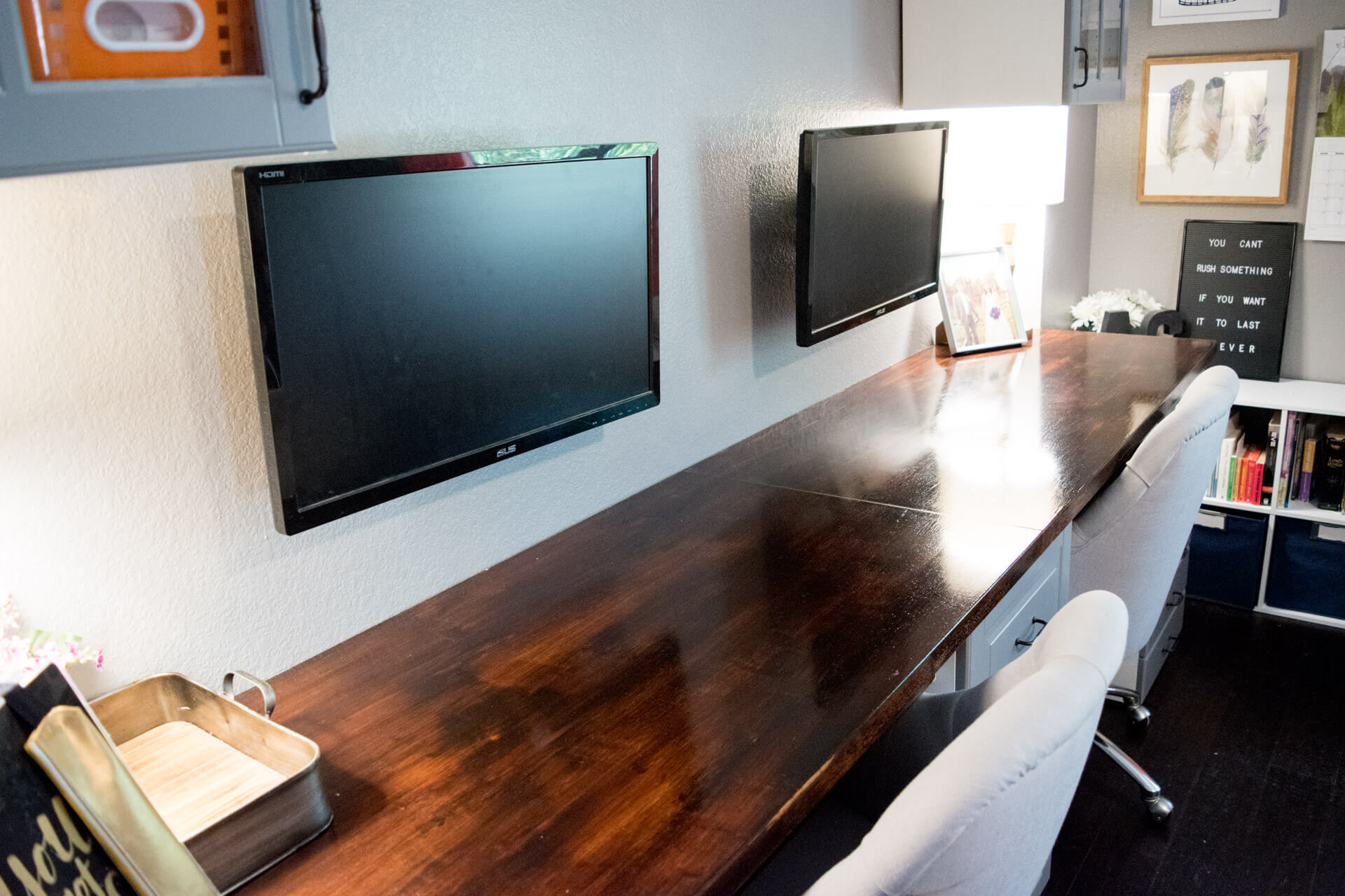 DIY Without Fear | How To Make A Desk From Kitchen Cabinets: Part Two