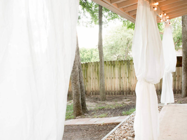 Outdoor Curtains: An Inexpensive IKEA Patio Makeover