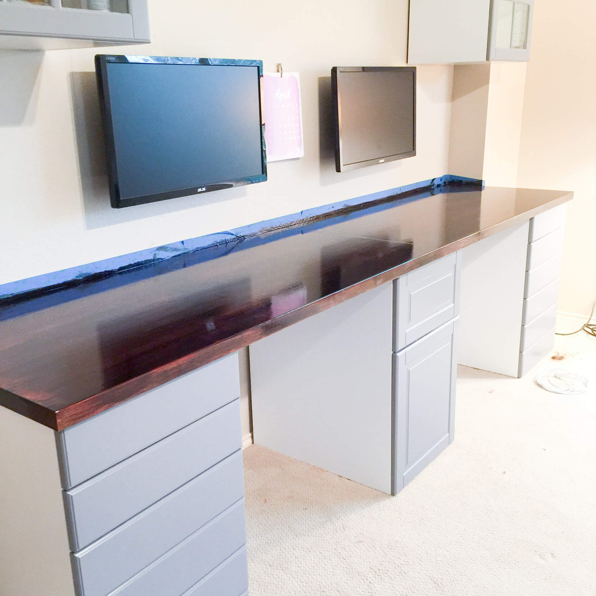 How To Make A Desk From Kitchen Cabinets Part One Diy Without Fear
