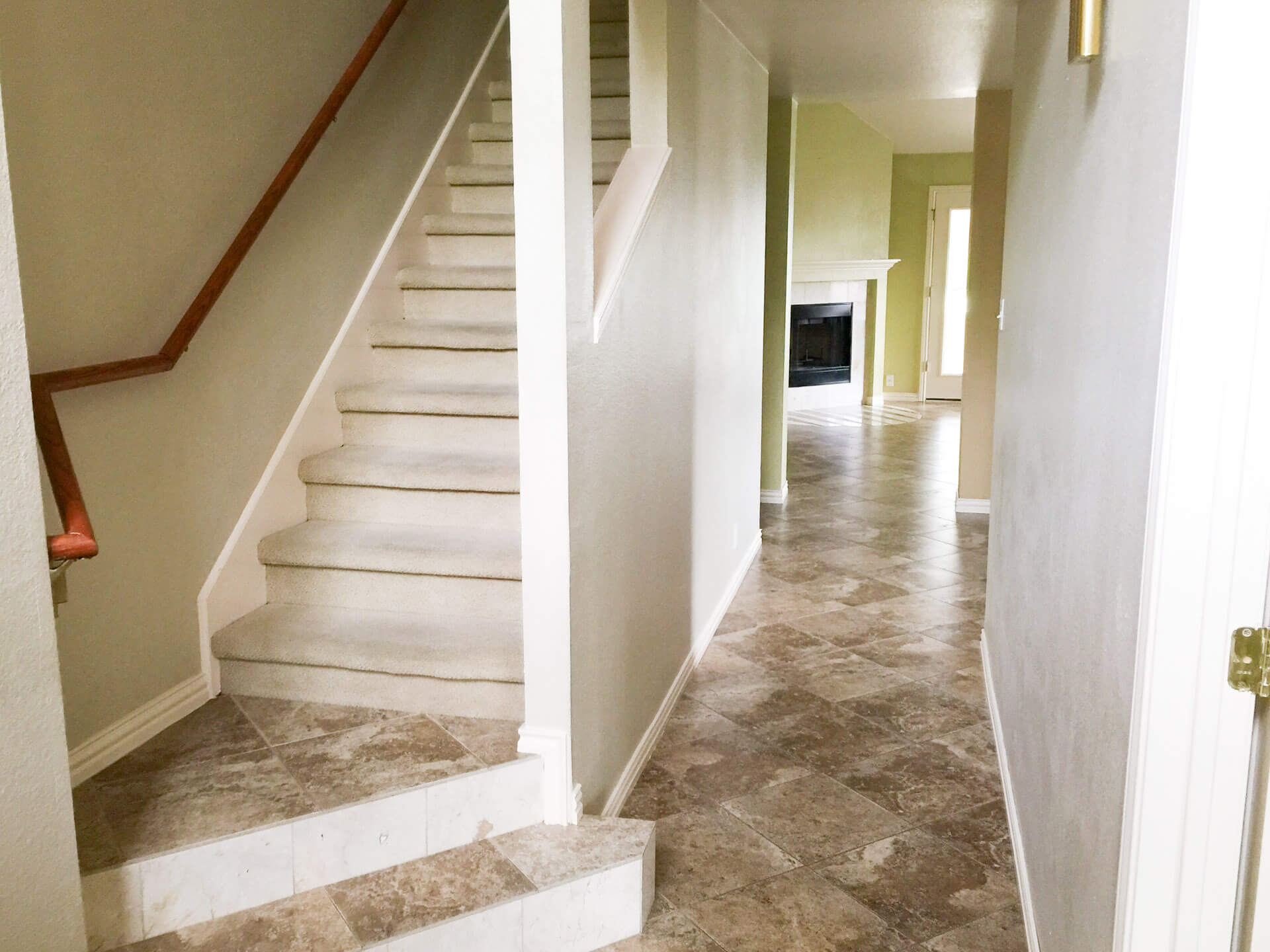 Blog, Entryway and Stairs